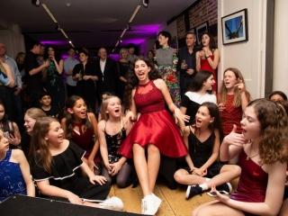 girls at bat mitzvah party